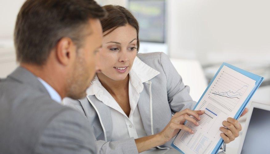 Businesswoman presenting company turnover