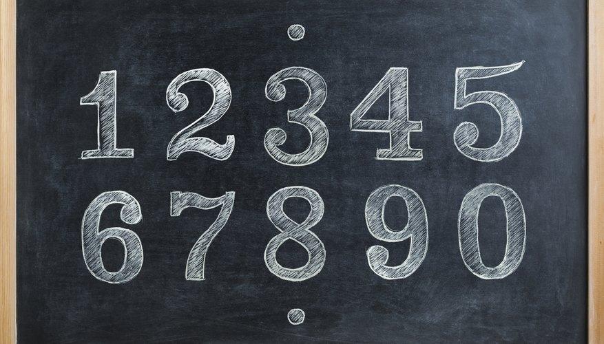 Ten digits written on a chalkboard