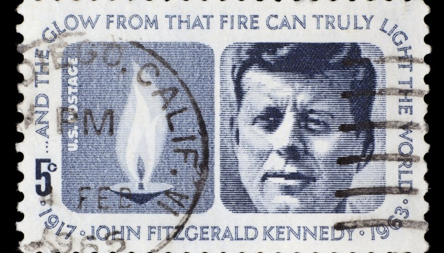 Stamp of JFK.