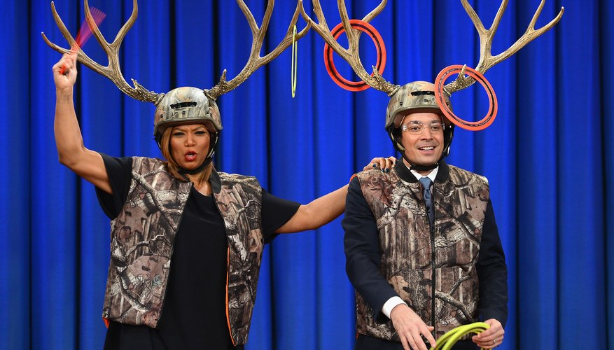Celebrities Jimmy Fallon and Queen Latifah play a humouros game of