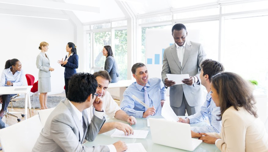 Group Of Business People Around The Conference Table