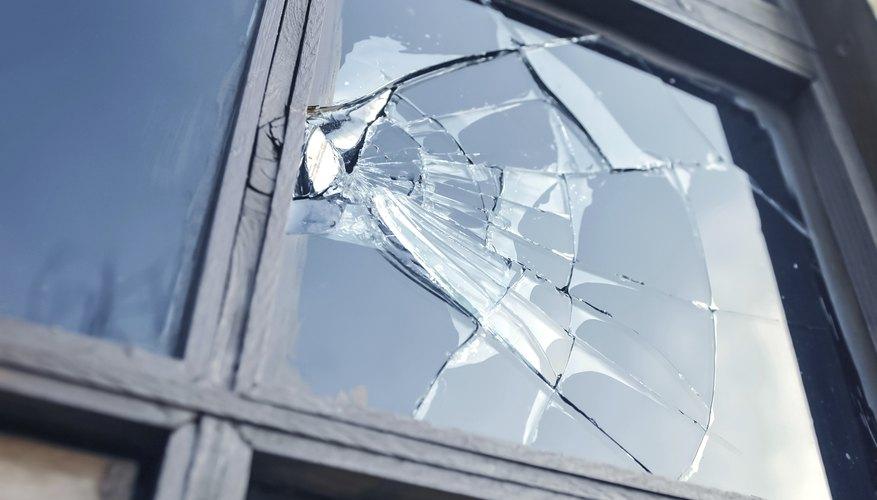 Broken windows are deductible rental property repairs.