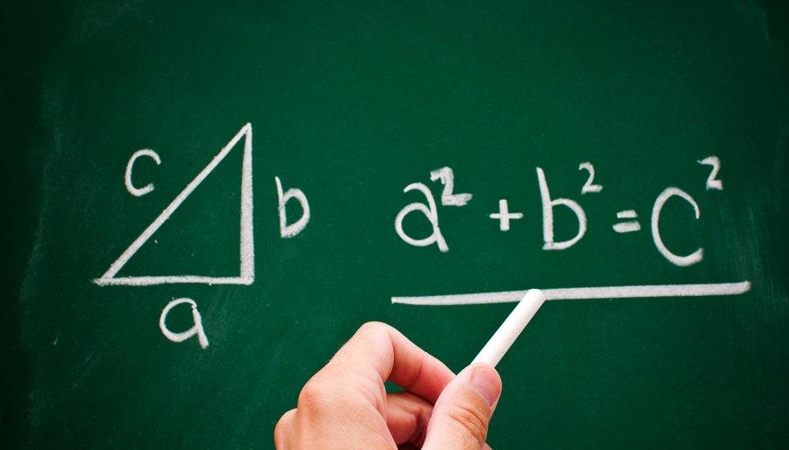 Pythagorean Theorem written on a chalkboard