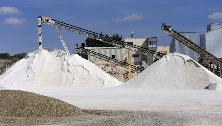 Missouri limestone was used for construction and is now used for cement production.