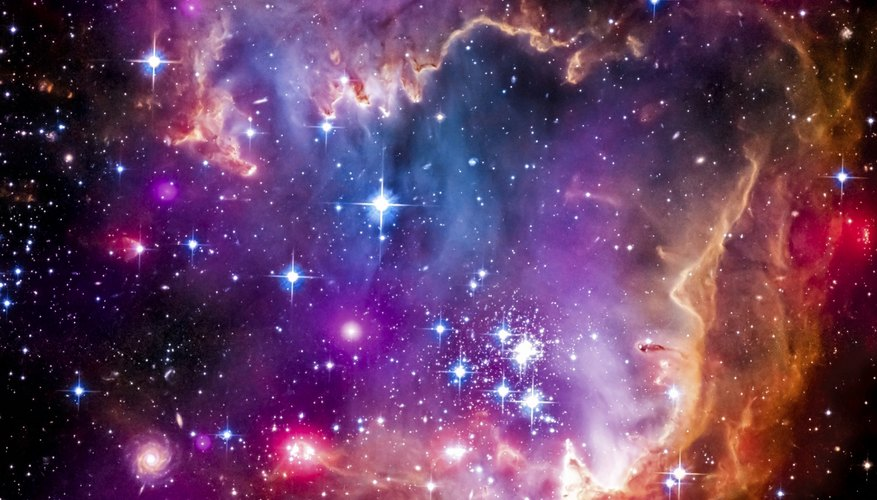 View of the Magellanic Cloud which is a dwarf galaxy