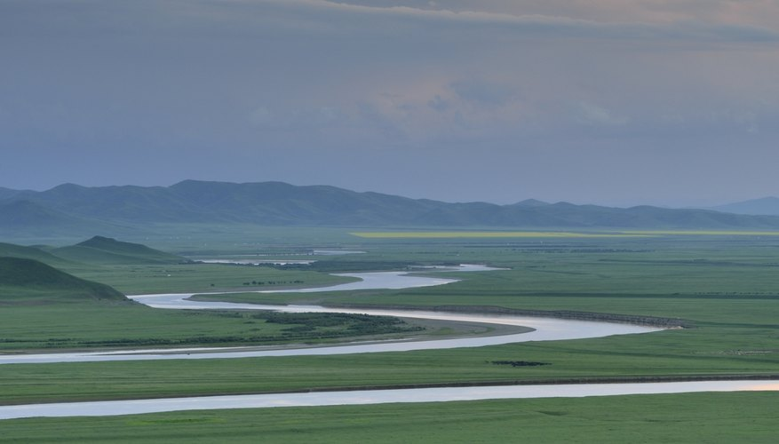 A fertile delta formed from the Yellow River in China.