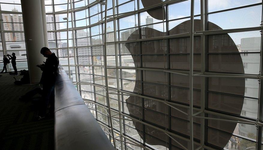 El icónico logo de Apple.