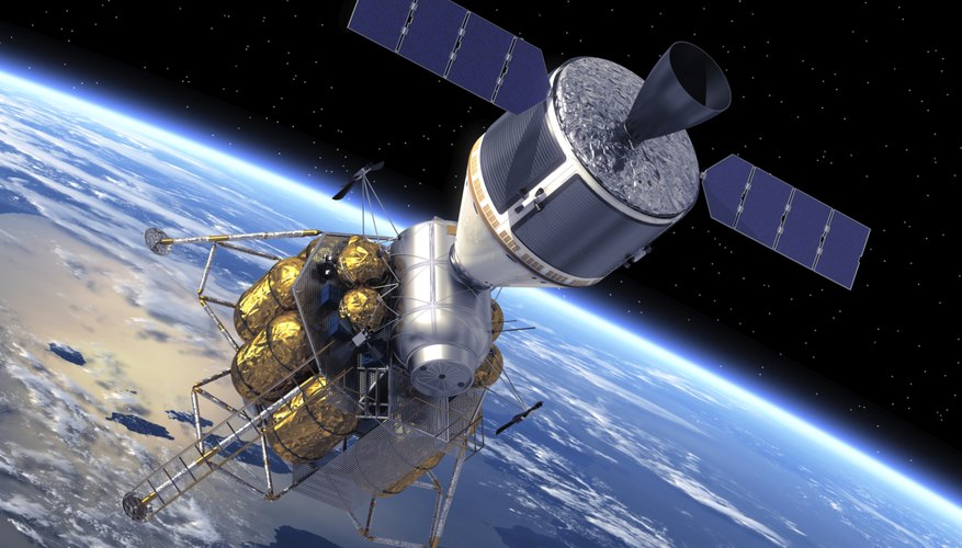 Crew Exploration Vehicle Orbiting Earth.