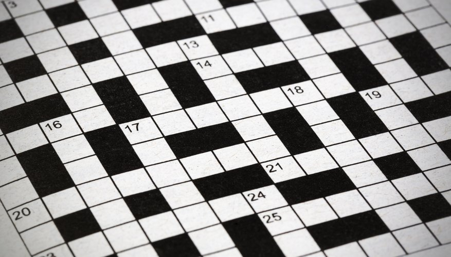 Your standard crossword puzzle.