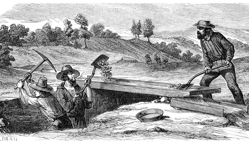 Las esclusas son utilizadas para separar el oro de otros materiales.