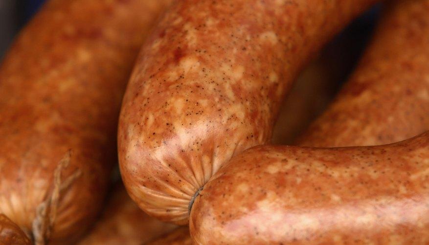 Close up of sausage links.