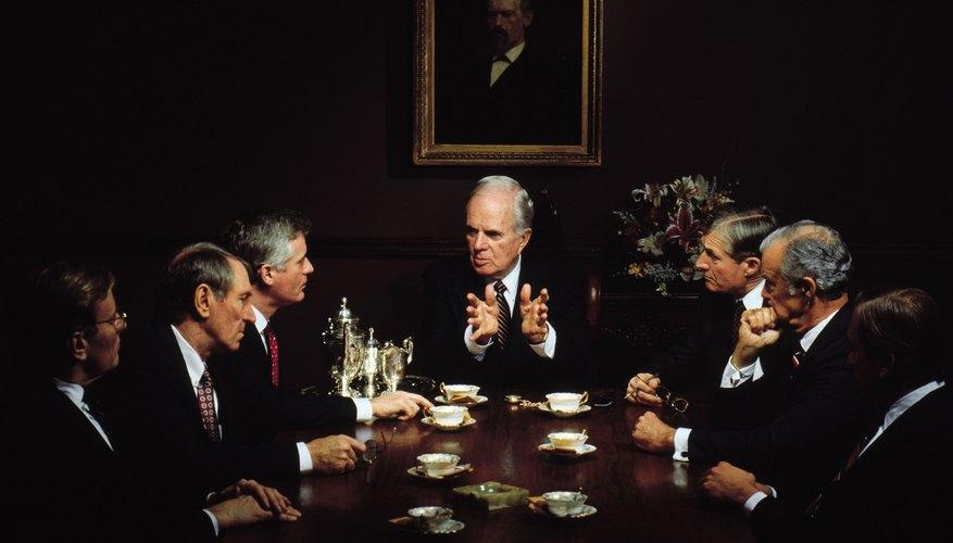 Executives at board meeting