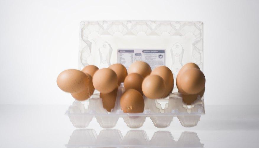 Falling eggs exert force.