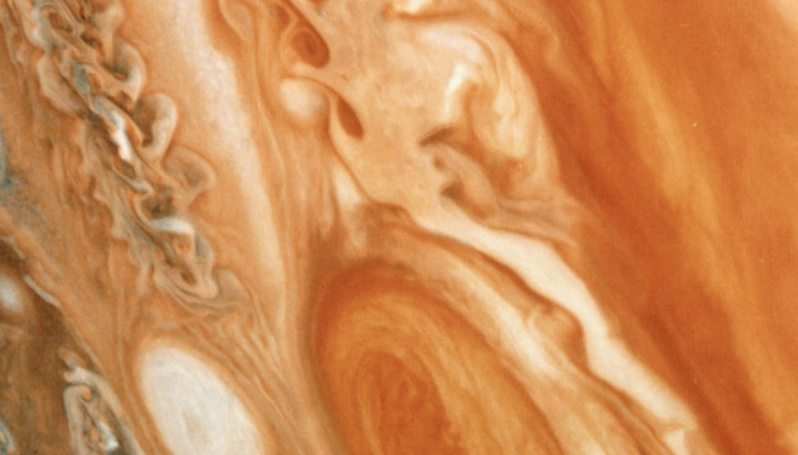 The whorls in Jupiter's atmosphere are long-lived and powerful storms.
