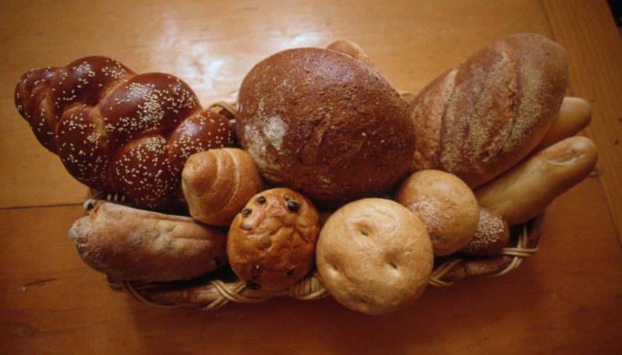 Basket of fresh baked breads