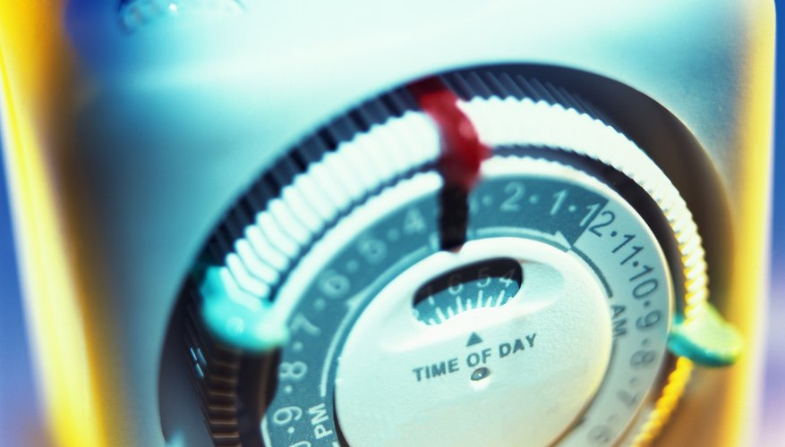 close-up of an electric timer