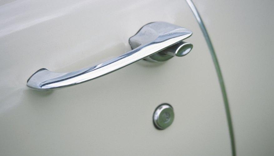 Antique automobile door handle