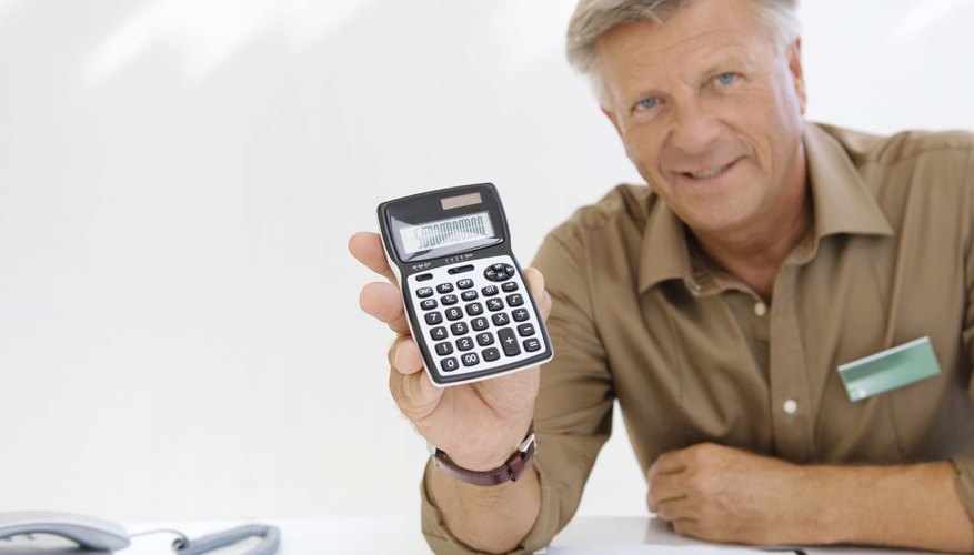 Financial adviser with calculator
