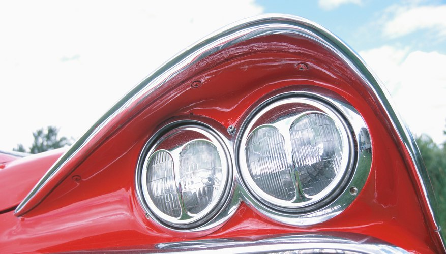 Taillight of classic automobile