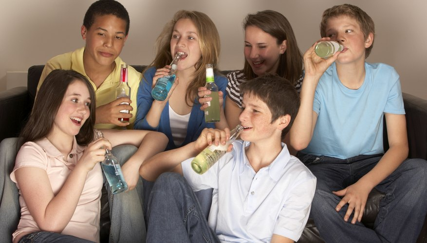 Alcohol often flows freely at unsupervised teen parties.