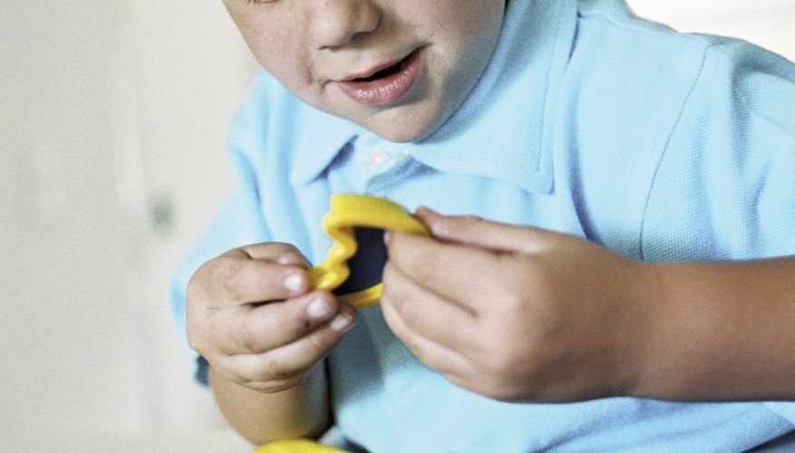 There are many different ways to play with play dough.