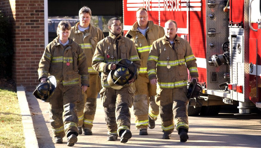 Lieutenants hold junior leadership positions within fire departments.