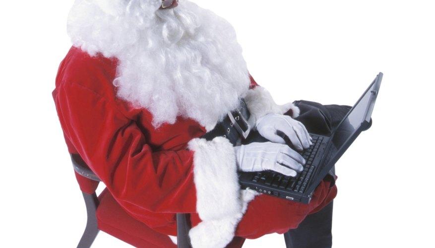 Crea tu propia peluca de Santa Claus.