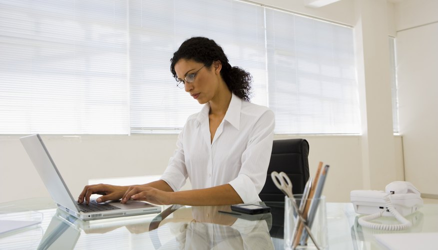Woman working in an office