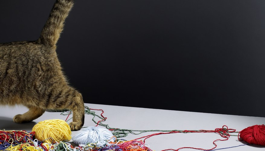 Keep your real cats away from your sewing kits.
