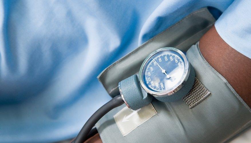Man taking blood pressure