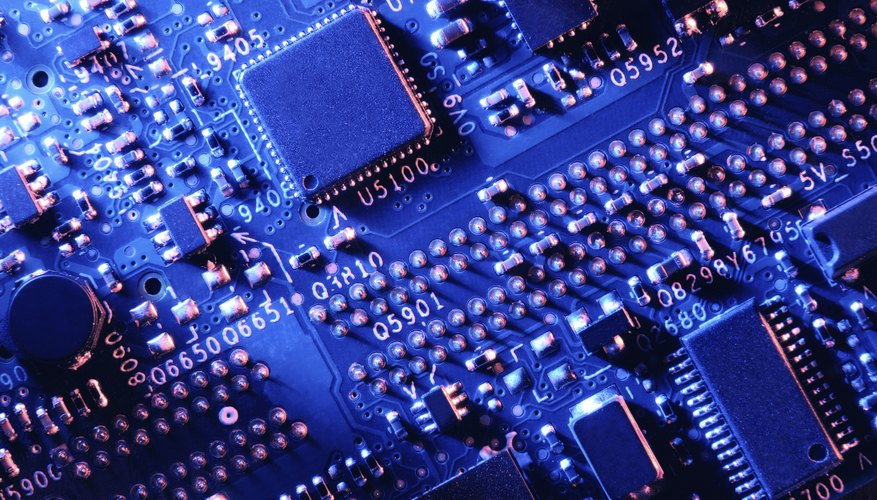 Close-up of LED circuit board.