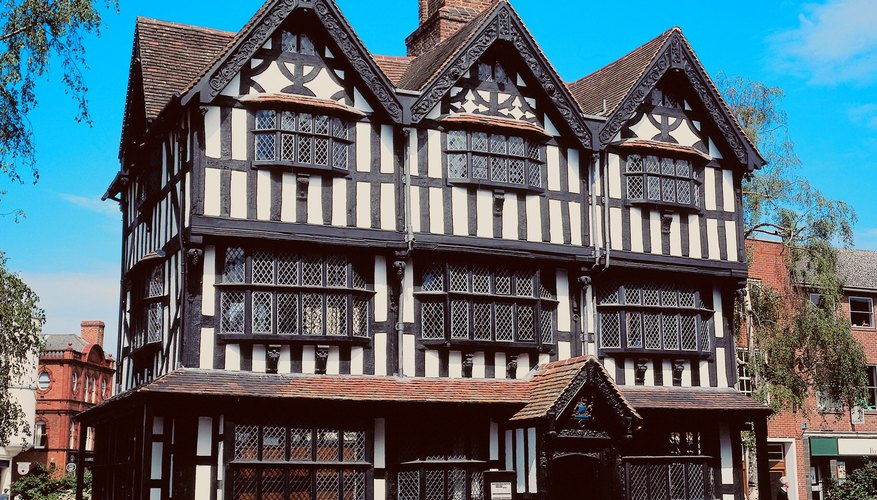 A timber Tudor building in Worcestershire.