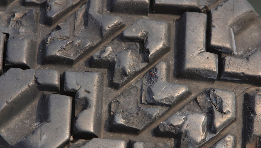 Detail of tire tread