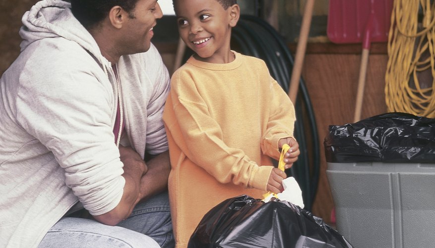 Involve your child in taking out the trash at home.