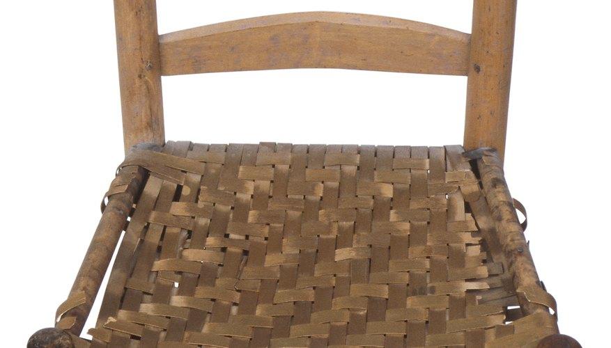 Aquí, el asiento es tejido en un modelo diagonal.