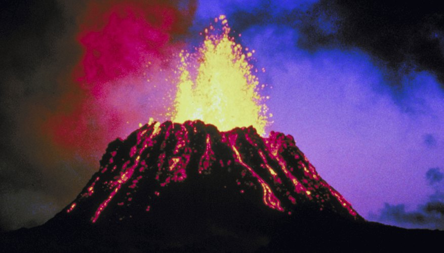 The Earth currently has about 500 active volcanoes.