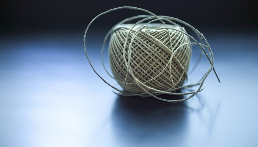 Lacing cord is a sturdy, durable material like twine.