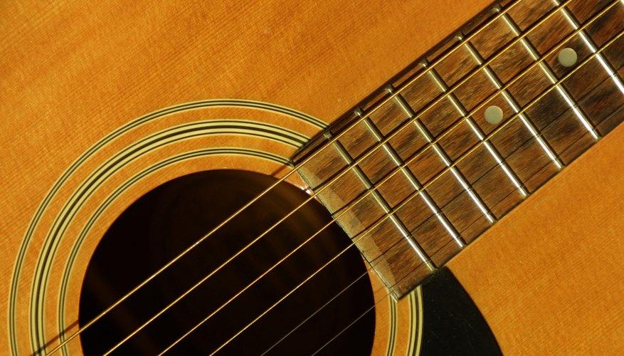 Una guitarra clásica.