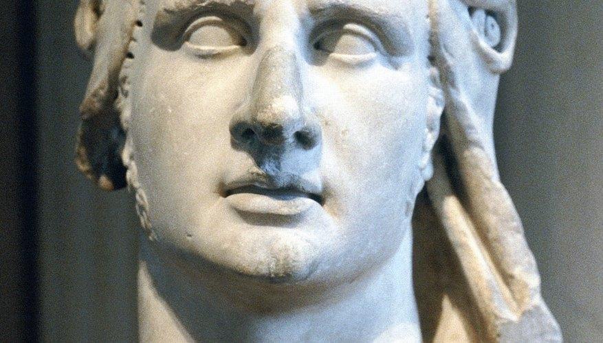 Busto que retrata a Alejandro Magno.