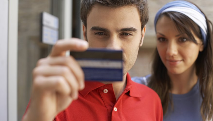 Credit card companies list amount owed as a positive number and credits as a negative number.