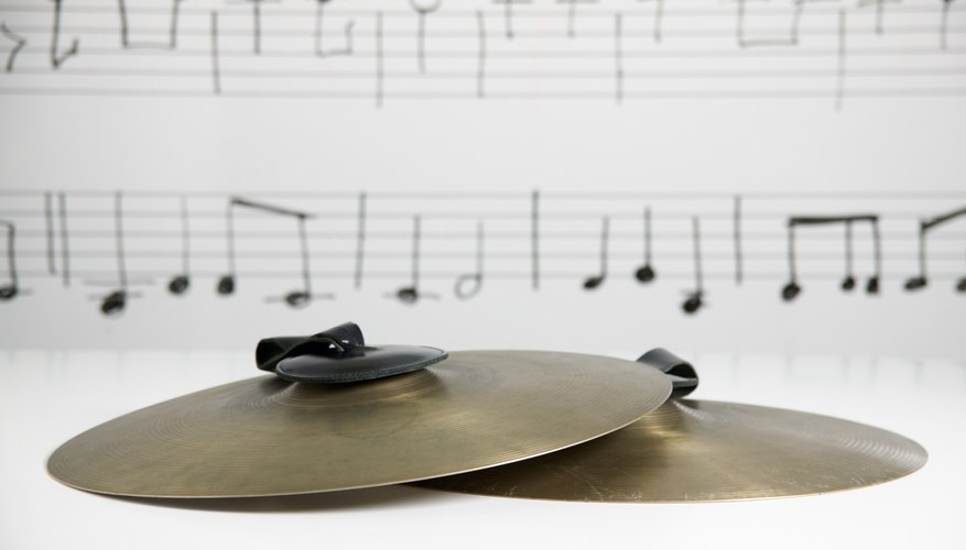 Cymbals have a gentle dome-shaped curve.