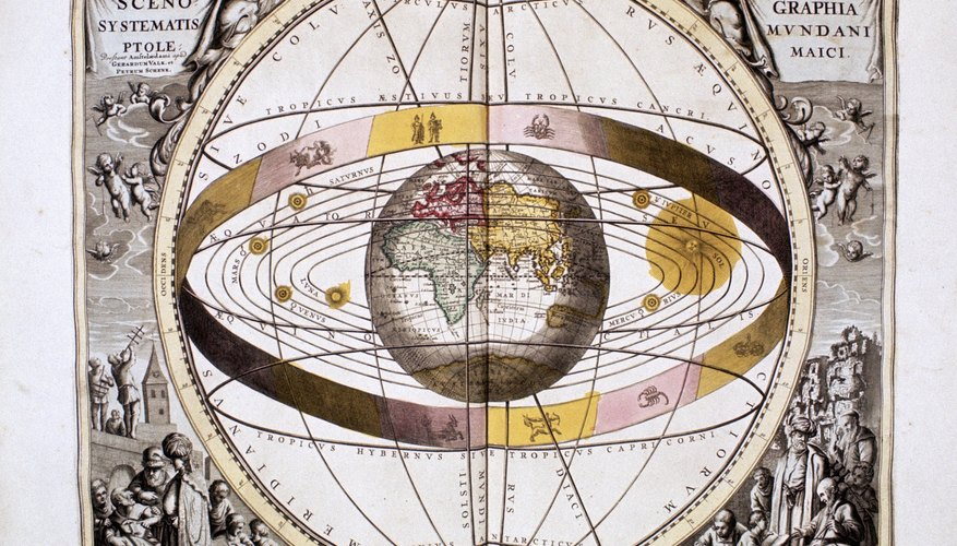 This portrait of Earth as the center of the universe, surrounded by concentric rings which themselves were host to other concentric rings, is the product of Ptolemy's work.