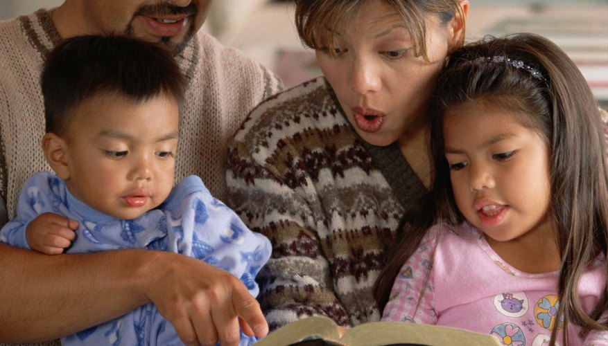 Reading Bible stories help children understand more about Jesus.