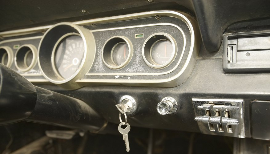 El tablero de un auto.