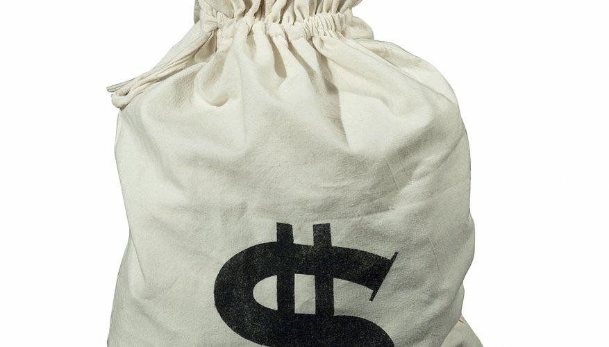Un disfraz de bolsa de dinero es fácil de hacer.
