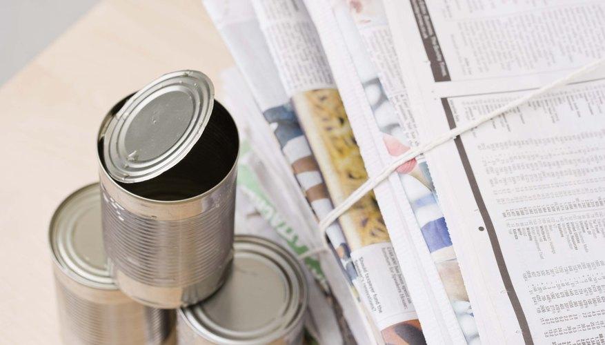 Dale un nuevo uso a las latas viejas.