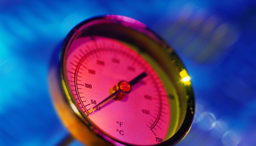 infrared close-up view of an oven thermometer