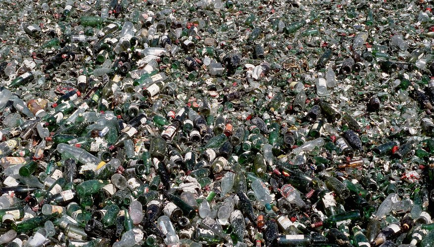Landfills are clogged with non-biodegradable pollutants, including plastic bottles and disposable diapers.