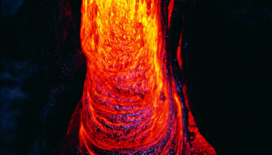 Magnetic crystals don't orient to the poles until the magma cools.