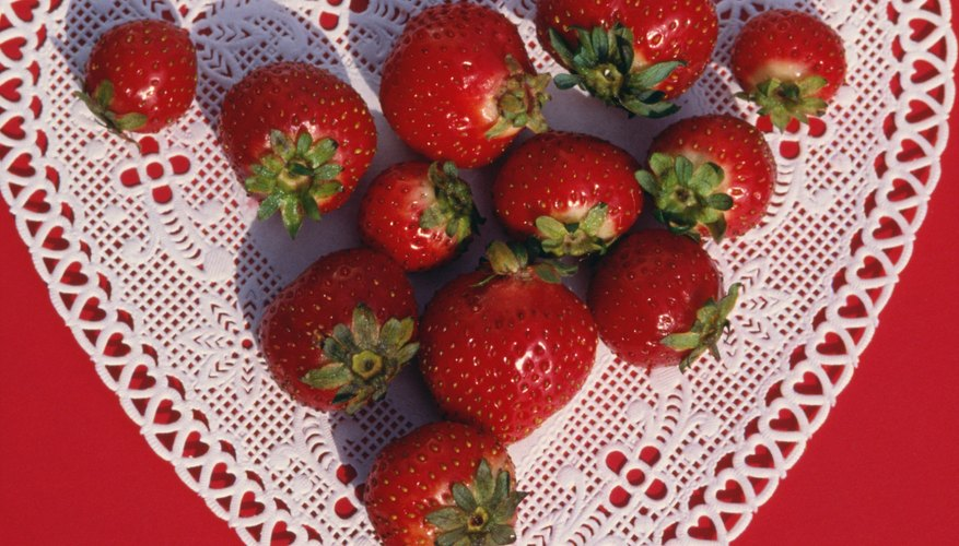 Shaped like hearts, strawberries are an ideal Valentine Day's treat.